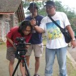 Eko Adriyanto during a film shoot of  Haji Albasia: the Albasian Haj