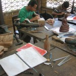 Sustainable wood carving at Banteay Prieb
