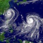 El tifón Muifa y la tormenta tropical Nock-ten sopló en las Filipinas, agosto de 2011. Foto de: NOAA