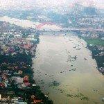 Vista aerea del rio Mekong que atraviesa la ciudad de Ho Chi Minh. Foto de: Pedro Walpole