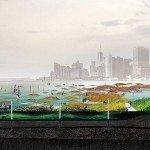 Hace dos años se propuso que los arrecifes de ostras en la bahía de New York se convirtieran en una barrera natural para detener tormentas. Foto de: Kate Orff