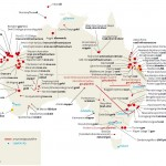Minerales y proyectos de energía, listado de abril de 2011. Foto det: Oficina australiana de agricultura y economía de recursos y ciencias, Departamento de agricultura, pesca y silvicultura, el Gobierno australiano
