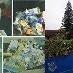Segregación de basura y reciclaje en la escuela y paraíso verde, donde los estudiantes de la planta. Foto de: The Wah Yan Times; P Walpole