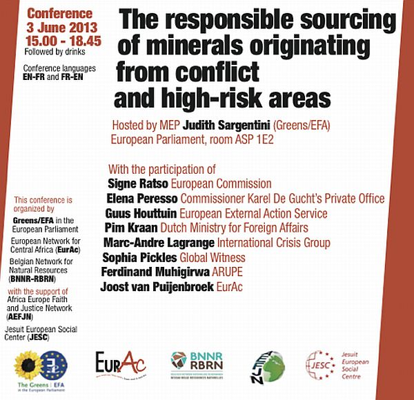 Conference on European initiative on responsible sourcing of minerals from conflict and high-risk zones