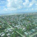 Costa de Guyana en la que vive el 90% de la población. Foto de: P Walpole