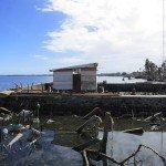 """: """"Reconstrucción"""" a lo largo de la línea de costa a lo largo de Taclobán, 16 de Noviembre de 2013. Foto des: P Walpole"""