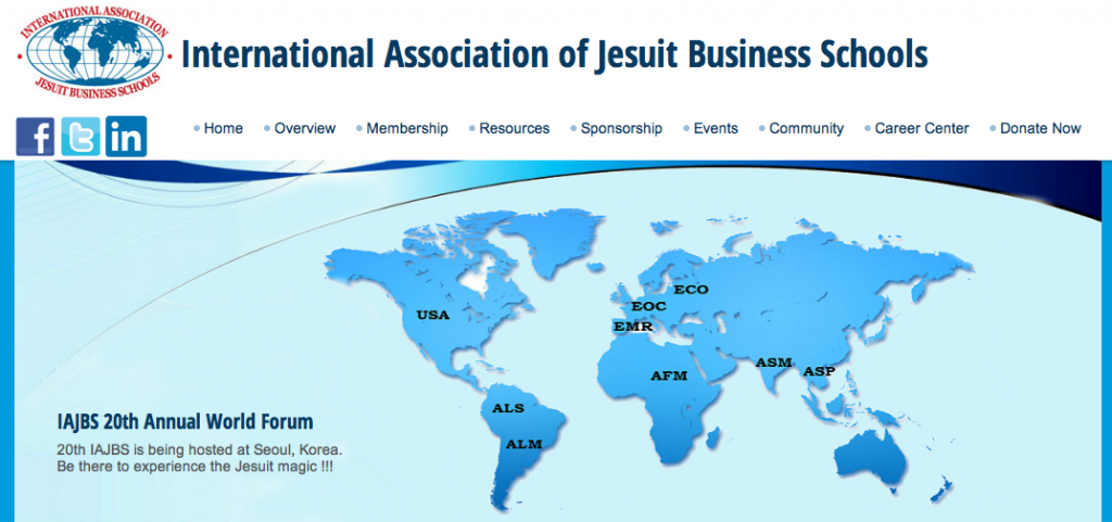 Mobilizing the worldwide Jesuit network in collaborating for global sustainability: The IAJBS 20th Annual World Forum