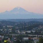 Monte Rainier en el paisaje de Washington