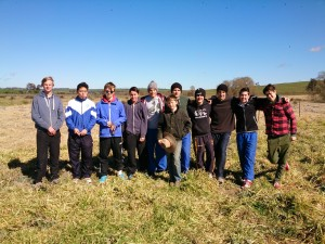 Student tree planters from Saint Ignatius' College Riverview