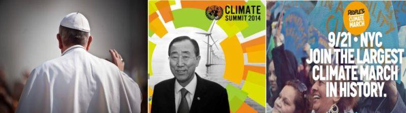 Carta abierta al Papa Francisco, una cumbre global, y una marcha por el cambio climático