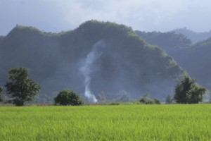 Forests, productive lands, and resources, but communities need opportunities to process interrelations due to pressures such as conflict of the dams and relocation of people in the Shan State, northeast Myanmar. Photo credits: P Walpole