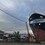 Barangay Anibong, ciudad de Tacloban en Leyte, Filipinas espera la llegada del Papa Francisco. Foto de: Vincent Go for ABS-CBNnews.com