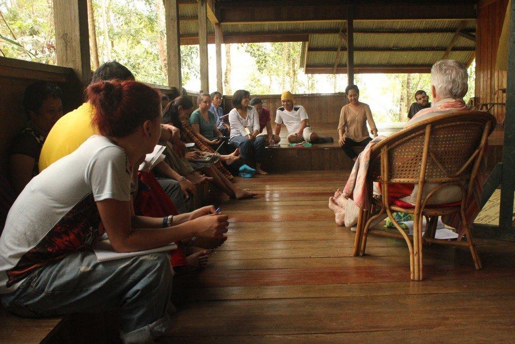 Personal de ESSC durante un taller de planificación en Bendum, en la provincia de Bukidnon. Foto des: A Ignacio, ESSC