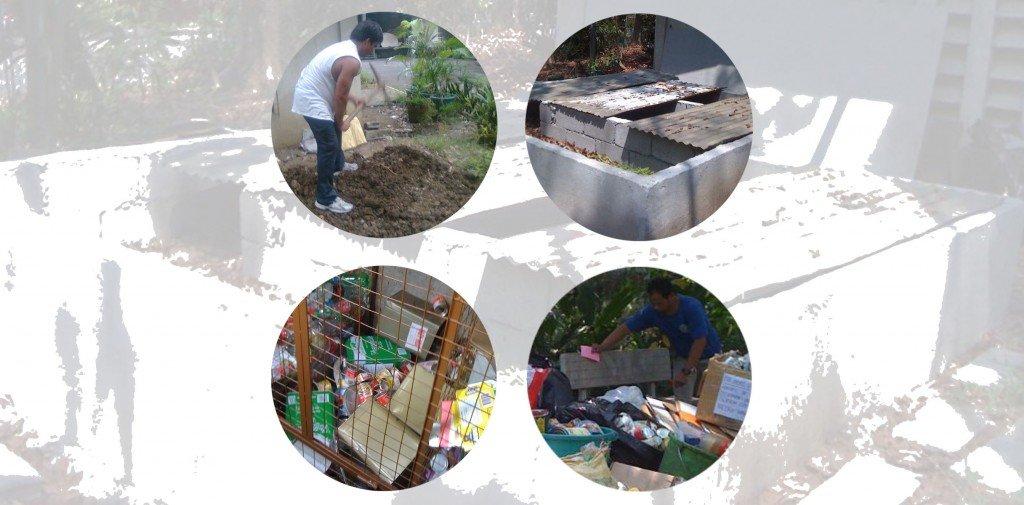 Jesuits set up proper waste management at the Loyola House of Studies in Quezon City, Philippines. Photo Credit: C Aguinaldo, ESSC