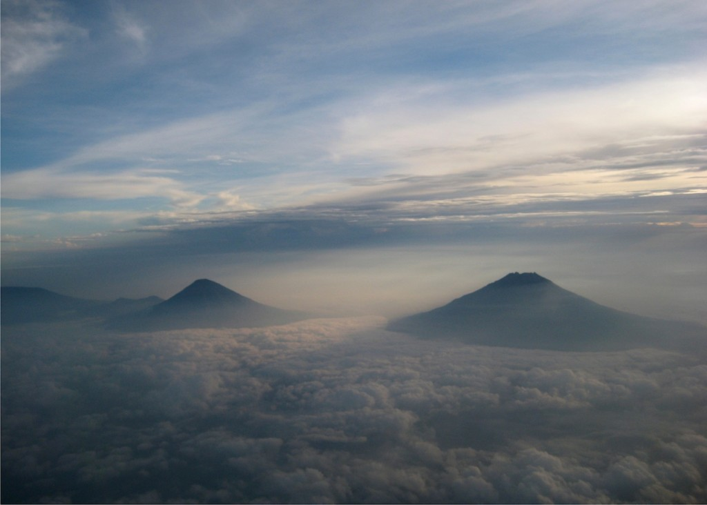 Nice, quiet shot of Indonesian volcanoes. Photo credit: P Walpole