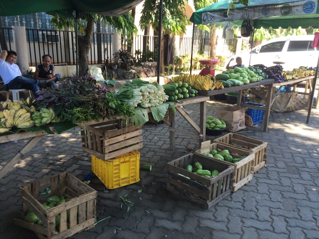Weekend market of organic fruits and vegetables from small farmers at the parish grounds of the Archdiocese of Cagayan de Oro in northern Mindanao, Philippines. Photo credit: S Miclat