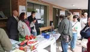 Los productores de la comunidad de huertas orgánicas y otras ONGs participaron en la actividad de recaudación de fondos.