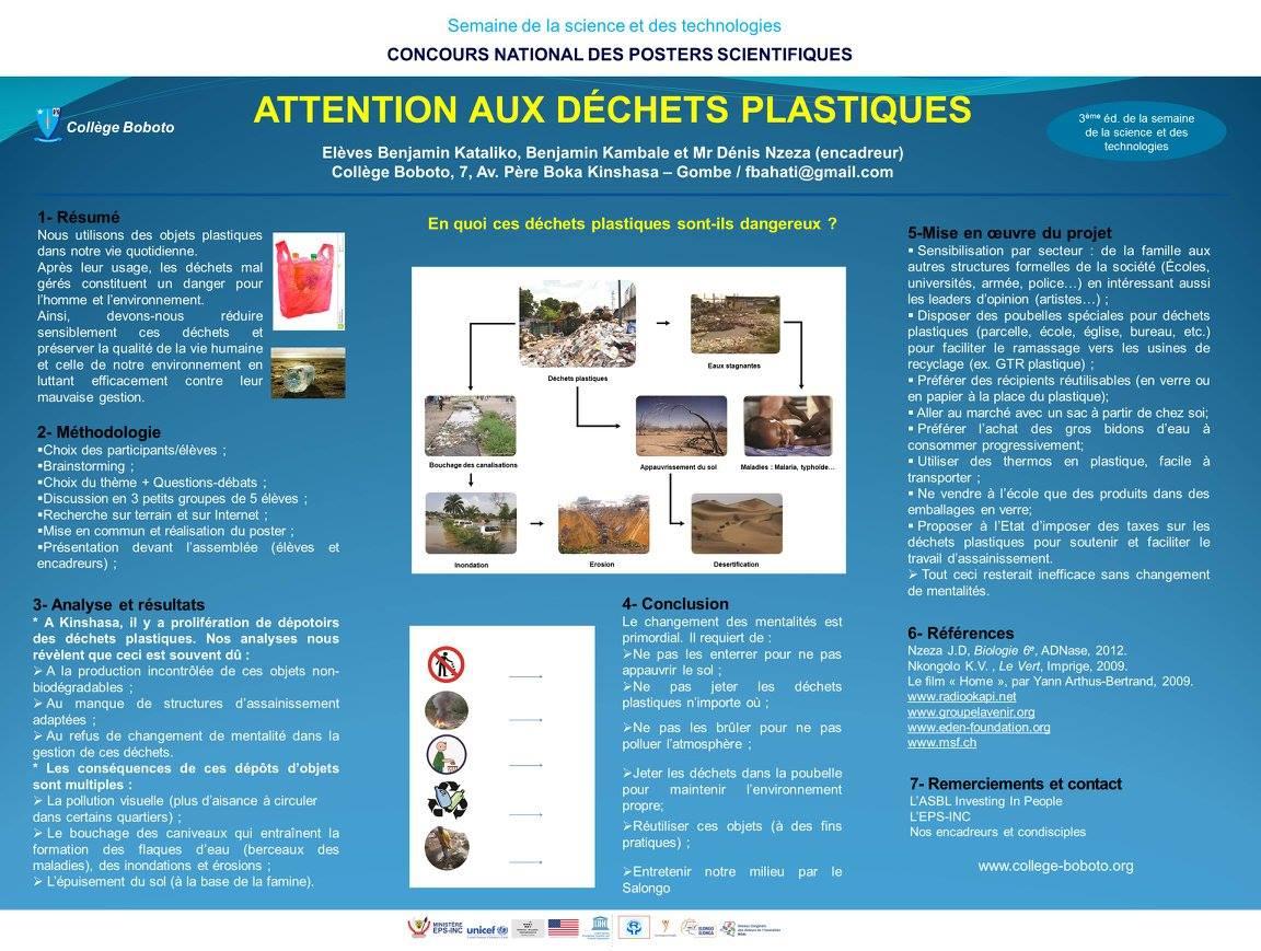 Le Collège Jésuite Boboto (RD Congo) remporte un concours sur l'environnement