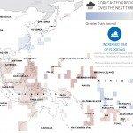 """""""Las sequías plantean la amenaza más generalizada en la región de Asia Pacífico.  La escasez de agua en las economías lluvia sensible podría desencadenar condiciones de desestabilización, como la crisis energética, la migración humana y animal, la escasez de alimentos, y los incendios forestales - que conduce a conflictos y la vulnerabilidad regional."""" (Del informe """"El Niño: Potential Asia Pacific Impacts"""" de la Administración Nacional Oceánica y Atmosférica, Octubre 2015)"""