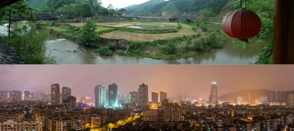Rural and urban China seeking a sustainable development. Photo credit: thenatureofcities.com
