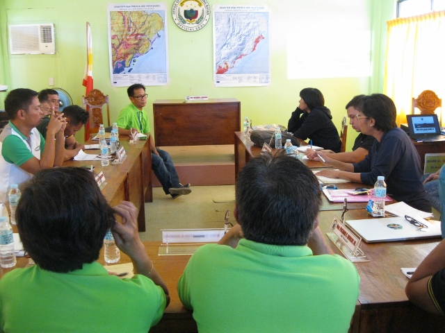 ESSC meeting with the local government DRR and GIS staff of Hernani in Eastern Samar on the collaborative work on capacity strengthening (Photo credit: ESSC)