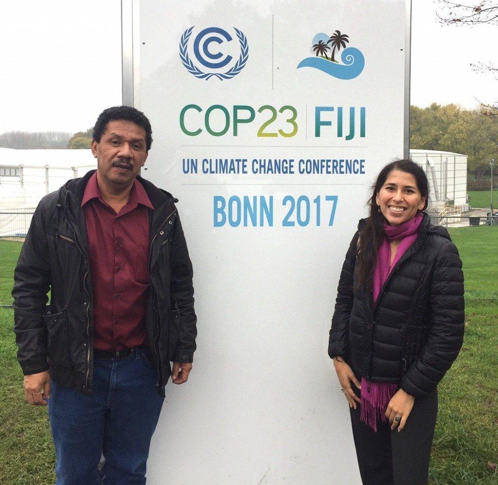 Pedro and Cecilia at the Bonn Zone.