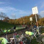 Bicicletas para ir y volver en el recinto de la COP23 en Bonn. Foto de: S. Miclat