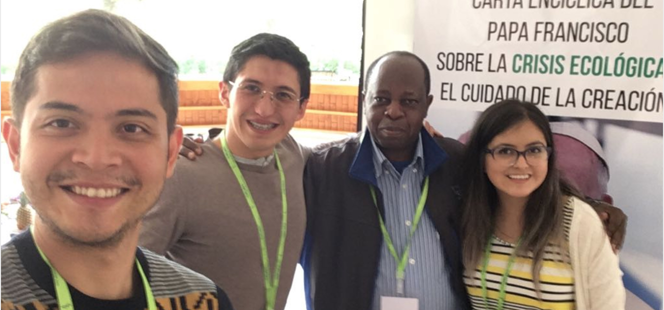 Youth from Global Catholic Climate Movement, with Fr Rigobert, joined the integral ecology gathering in Quito, Ecuador