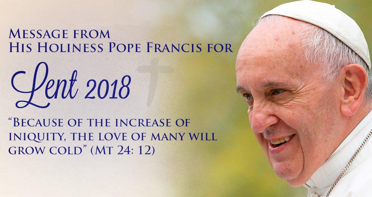 2018 Message de Carême du Pape François