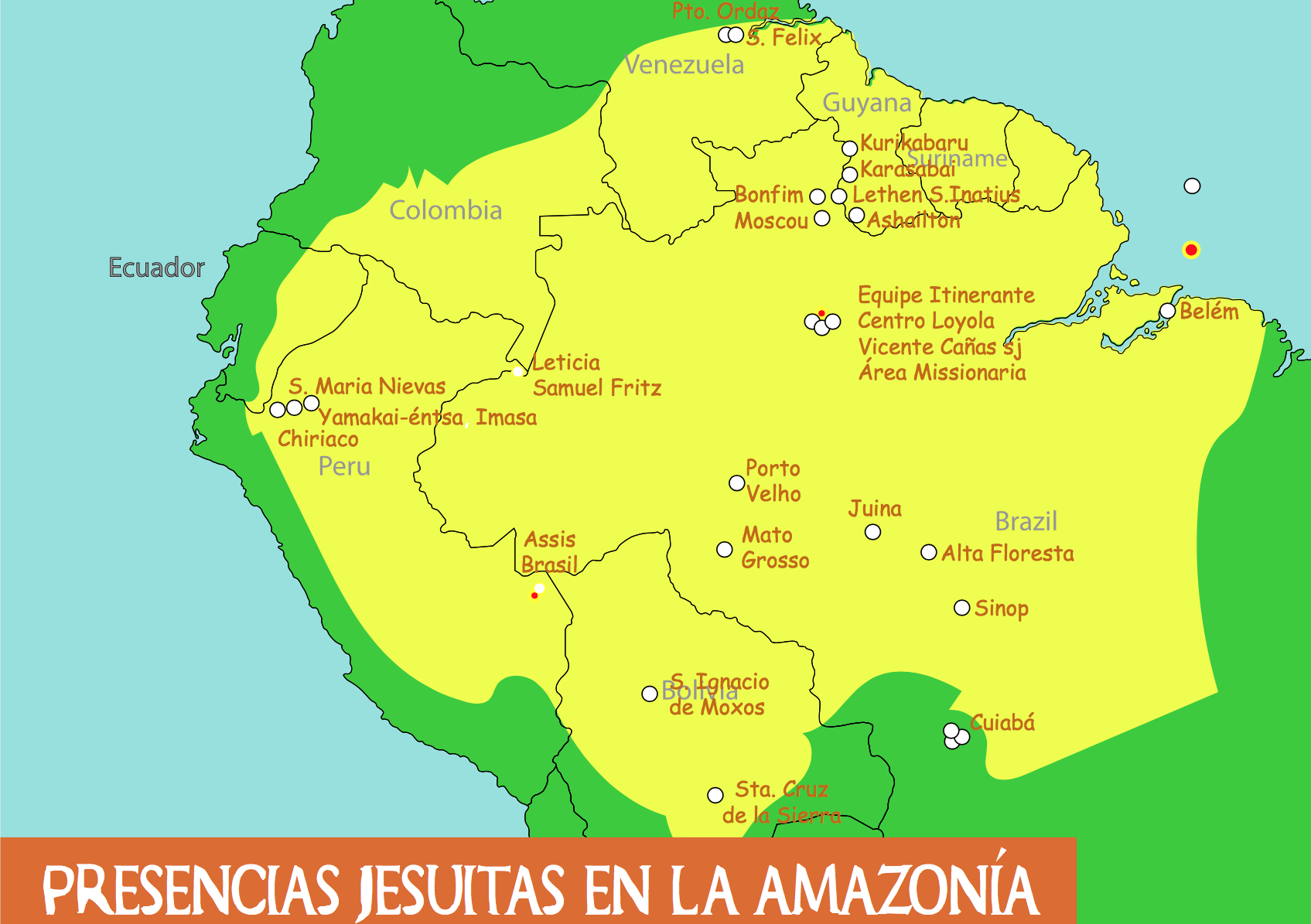 Profundizando las relaciones y la colaboración con América Latina: Encuentro anual de Ecojesuit en 2018 en Leticia, Colombia
