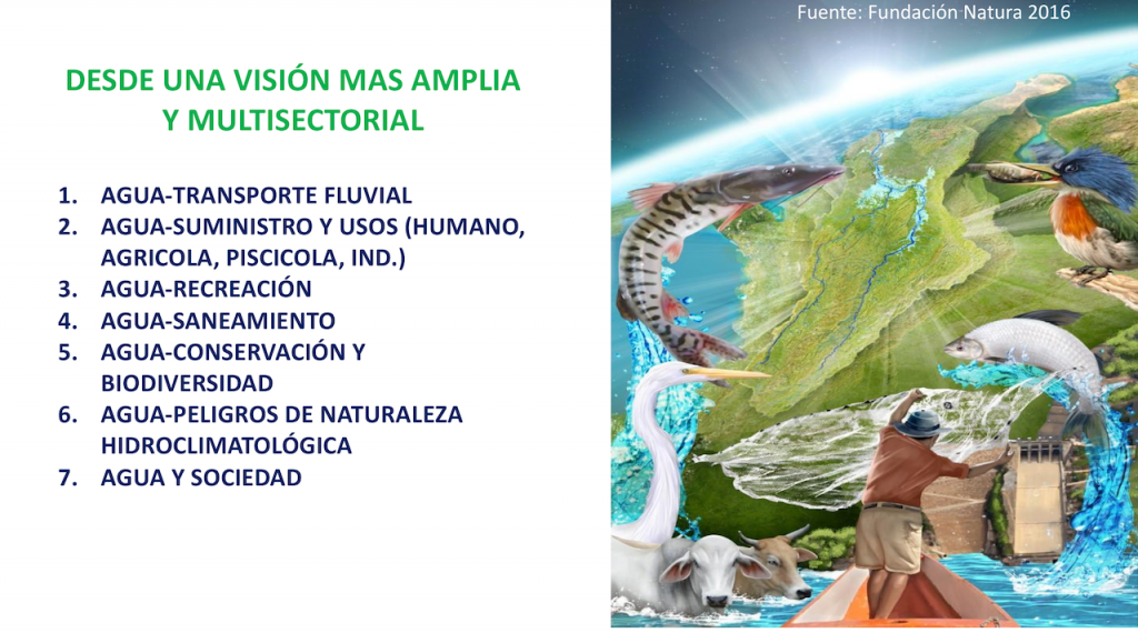 """Water is an essential common good, an existential and transcendental factor, the natural and cultural heritage of planet earth, the supreme and sacred element for the expression of life in all its manifestations. The geographical diversity of Colombia is manifested in the variety of its landscapes and climates, its mountains, its glaciers, aquifers, rivers and oceans, forests, páramos, and the desert; of fauna and flora; of cultures and modes of production and life. All the coordinates of this territory host countless goods and resources that constitute an infinite natural and human wealth with an exceptional biodiversity that we must guard as an inheritance for the generations to come."" (Source: Declaración de Colombia: Del derecho al agua al derecho a la paz, September 2017) Photo credit: Instituto del Agua de la Universidad Javeriana"