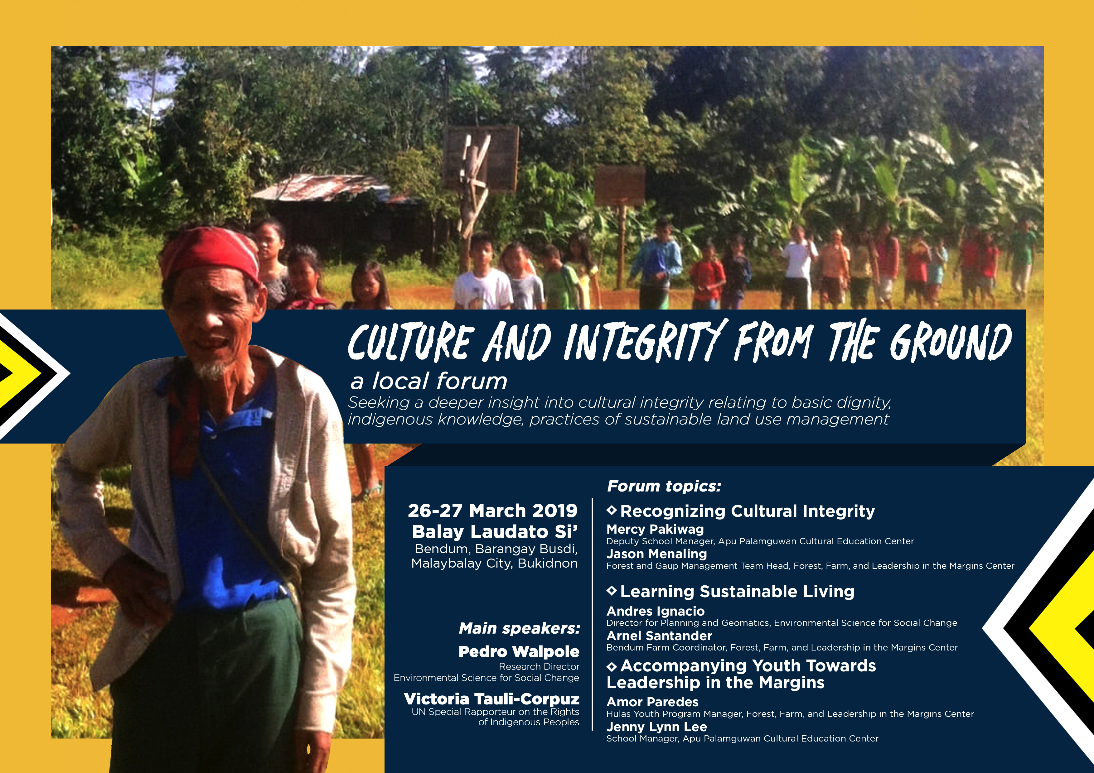 Culture and integrity from the ground, a local forum