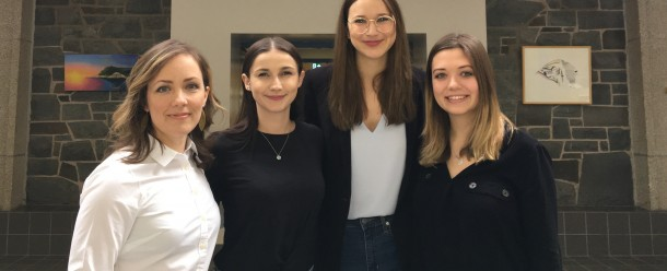 The winning team from the Schulich School of Law, Dalhousie University: (L-R) Emma Doucette, Jacqueline Hartigan, Taya Arnold, and Chelsea Packman