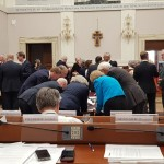 Finalizing the joint statements at the Vatican Transition Dialogue (Photo credit: theelders.org