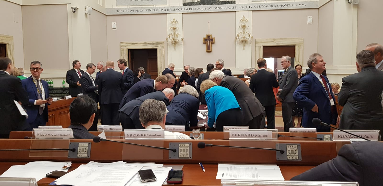 Energy CEOs sign joint statements at the Vatican on carbon pricing and climate risk disclosures