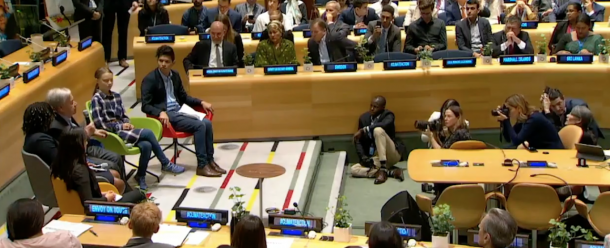 Youth leaders demand bold action on climate change at the UN