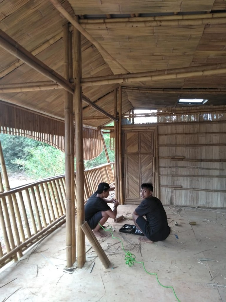 Local bamboo construction