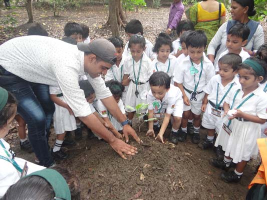 Celebrating trees with the youth at Tarumitra