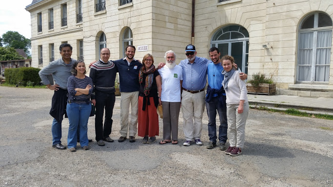 The Ecojesuit friends in Europe gathered for a few days in May 2019 at the Campus de la Transition in Forges (Seine-et-Marne), France. Photo credit: M Alvim