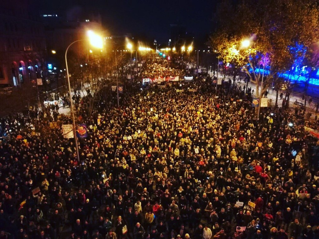 Marching in Madrid, COP25, 6 December (Twitter - @Greta Thunberg)