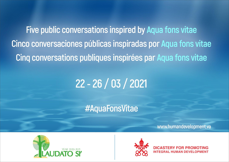 Conversations publiques sur la valoriser de l'eau, inspirées par les Aqua fons vitae