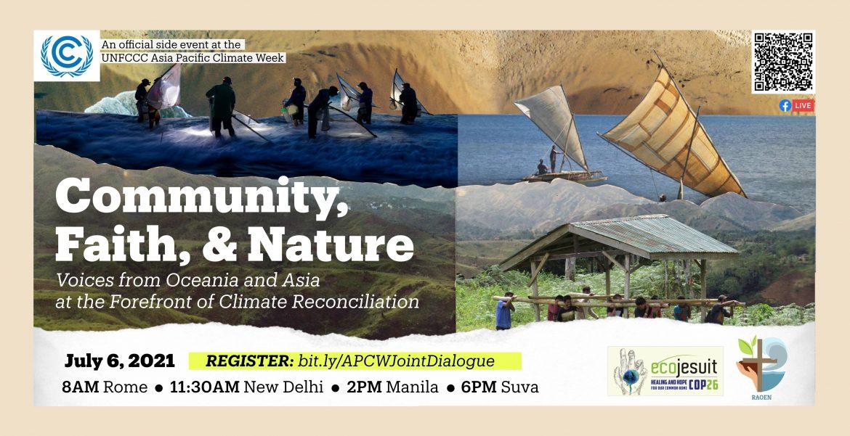 Voces de la comunidad, la fe y la naturaleza de Oceanía y Asia en la reconciliación climática